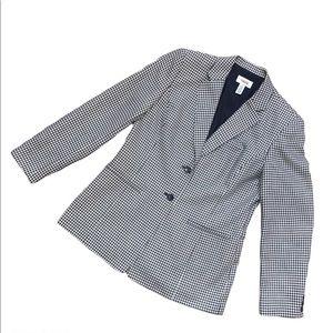 Talbots Houndstooth Blazer Jacket 8